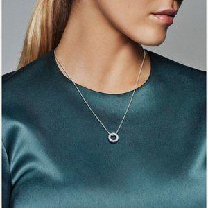 Pandora Jewelry - Pandora Logo Pavé Circle Collier Necklace